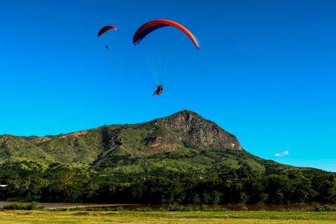 The first paragliding over Ly Son island